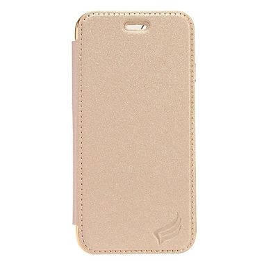Insten PU1 Electroplating TPU Wallet Leather Pouch Case Cover for Apple iPhone 7 - Gold/Silver