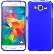 Insten Frosted Gel Case For Samsung Galaxy Grand Prime - Blue