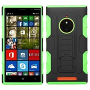 Insten For Nokia Lumia 830 Car Armor Hybrid Rugged Hard Shockproof Soft Case Black/Electric Green
