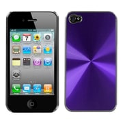 Insten Purple brushedMETAL Cosmo Back Case For iPhone 4 4S