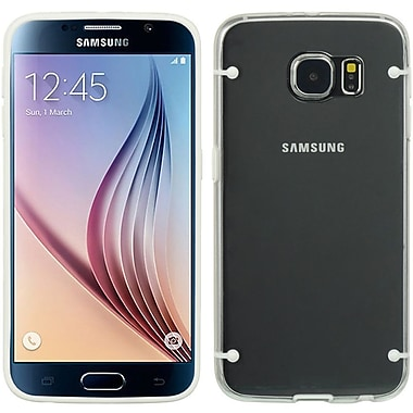 Insten Hard TPU Cover Case For Samsung Galaxy S6 - White/Clear