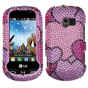 Insten Cloudy Hearts Diamante Case for LG: VN271 (Extravert)