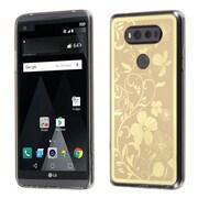 Insten Phoenix-tail Flowers Gel Cover Case For LG V20 - Gold