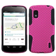 Insten Hot Pink/Black Astronoot Phone Case for LG: E960 (Nexus 4)