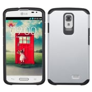 Insten For LG F70 D315 Astronoot Hybrid Rugged Hard Shockproof Silicone Slim Case Silver/Black