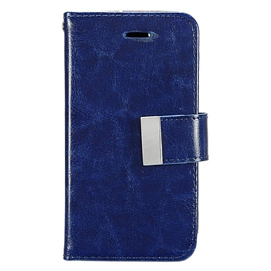 Insten Luxury Flip PU Leather Wallet Flap Pouch Case Cover for Apple iPhone 7 - Blue