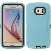 Insten Wrap Up Gel Cover Case w/Installed For Samsung Galaxy S6 - Teal/Black