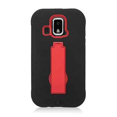 Insten Symbiosis Rubber Hard Cover Case w/stand For Kyocera Hydro XTRM C6721 - Black/Red