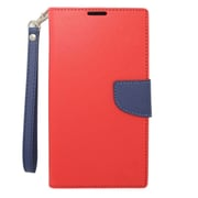 Insten Flip Wallet Leather Stand Case with Lanyard & Card slot For Nokia Lumia 1320 - Red/Blue