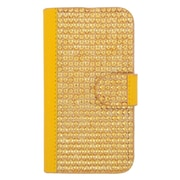 Insten Wallet Leather Diamante Case with Card slot For Motorola Moto E (2nd Gen) - Gold