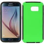 Insten Wrap Up TPU Case w/Installed For Samsung Galaxy S6 - Green/Black