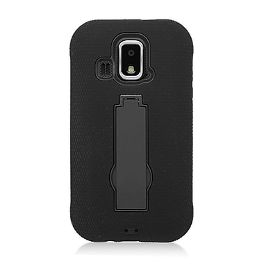 Insten Symbiosis Rubber Hard Case w/stand For Kyocera Hydro XTRM C6721 - Black