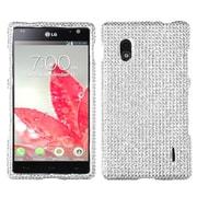Insten Silver Diamante Case (Diamante 2.0) for LG: E970 (Optimus G)
