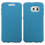 Insten Leather Dual Layer Fabric Hard Case For Samsung Galaxy S6 Edge - Blue