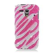 Insten Zebra Hard Bling Case For Kyocera Hydro Edge C5215 - Hot Pink/Silver