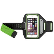 Insten Green Sports Gym Running Cycling Workout Armband For iPhone 6 6S Plus/Galaxy Note 5 4 S6/LG V10 (w/ key Storage)