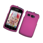 Insten Rubberized Hard Snap-in Case Cover for Kyocera Hydro C5170 - Hot Pink