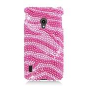 Insten Zebra Hard Diamante Case For LG Lucid 2 VS870 - Hot Pink/Pink