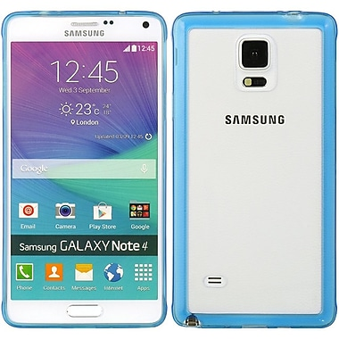 Insten Hard TPU Case For Samsung Galaxy Note 4 - Blue/Clear