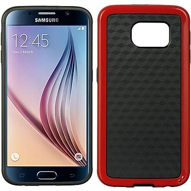 Insten Checker Hard TPU Case For Samsung Galaxy S6 - Red/Black