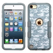 Insten Tuff Camouflage Hard Dual Layer Rubber Silicone Cover Case For Apple iPod Touch 5th Gen/6th Gen - Gray/White
