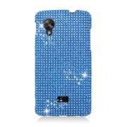 Insten Hard Rhinestone Cover Case For LG Google Nexus 5 D820 - Light Blue
