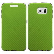 Insten Leather Dual Layer Fabric Hard Cover Case For Samsung Galaxy S6 Edge - Green
