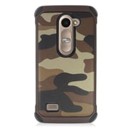 Insten Camouflage Hard Hybrid Silicone Case For LG Destiny/Leon/Power/Risio/Tribute 2 - Brown