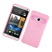 Insten Two-Tone/NightGlow Jelly Hybrid Hard Silicone Case Cover For HTC One M7 - Pink
