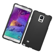 Insten Hard Rubber Coated Cover Case For Samsung Galaxy Note 4 - Black