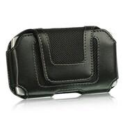 Insten Universal Folio Flip Leather Case Cover w/Belt Clip, 4.57 x 2.56 x 0.71 inches - Black