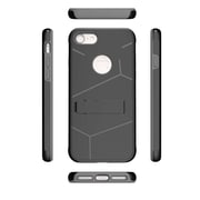 Insten For Apple iPhone 7 HLX Hybrid PC TPU Kickstand Shockproof Case Cover - Black/Grey