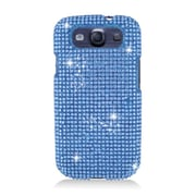 Insten Hard 3D Diamante Case For Samsung Galaxy S3 - Blue