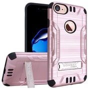 """Insten For Apple iPhone 7 6 6s 4.7"""" Hybrid Slim Armor PC TPU Metal Stand Protective Case - Rose Gold/Black"""