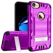 """Insten For Apple iPhone 7 6 6s 4.7"""" Hybrid Slim Armor PC TPU Metal Stand Protective Case - Purple/Black"""