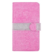 Insten Flip Leather Wallet Bling Cover Case with Card slot For ZTE Grand X Max - Hot Pink/Silver