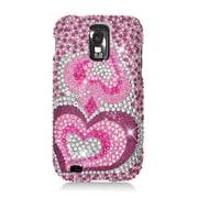 Insten Hearts Hard Diamante Case For Samsung Galaxy S2 Hercules - Pink