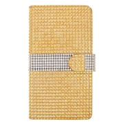 Insten Flip Leather Wallet Bling Case with Card slot For ZTE Grand X Max - Gold/Silver