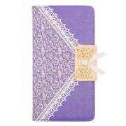 Insten Folio Leather Wallet Cover Case with Card slot For ZTE Grand X Max - Purple/Gold