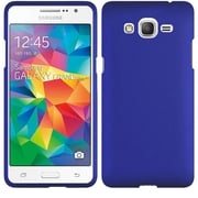 Insten Hard Rubber Coated Cover Case For Samsung Galaxy Grand Prime - Blue