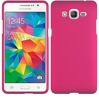 Insten Hard Rubber Coated Case For Samsung Galaxy Grand Prime - Hot Pink