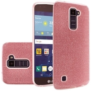 Insten Hard Hybrid Glitter TPU Cover Case For LG Escape 3/K7/K8/Phoenix 2/Treasure LTE - Red