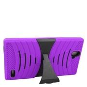 Insten Hybrid Rubber Hard Case with stand For ZTE Grand X Max/Grand X Max+ - Purple/Black