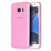 Insten Ultra Slim Crystal Tinted TPU Rubber Skin Gel Back Case For Samsung Galaxy S7 Edge - Pink