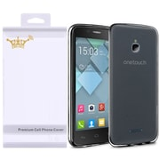 Insten For Alcatel Dawn Acquire STREAK Ideal Frosted Matte TPU Case (with Screen Protector) - Black