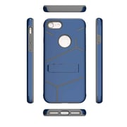 Insten For Apple iPhone 7 HLX Hybrid PC TPU Kickstand Shockproof Case Cover - Dark Blue/Grey