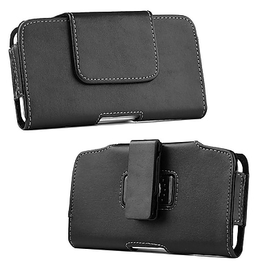 Insten Horizontal Pouch Leather Belt Clip Case Cover For Samsung Galaxy Note - Black