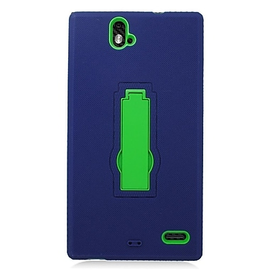 Insten Symbiosis Rubber Dual Layer Hard Stand Case For ZTE Grand X Max/Grand X Max+ - Blue/Green