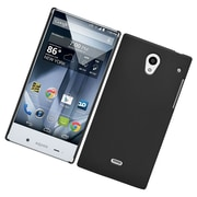 Insten Hard Rubber Coated Cover Case For Sharp Aquos Crystal - Black