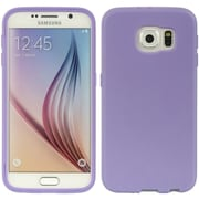Insten Wrap-Up TPU Rubber Skin Gel Case w/Screen Protector For Samsung Galaxy S6 - Purple